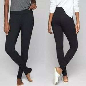 Athleta Restore Slim Ruched Leggings Large Black